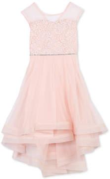 Speechless Toddler Girls Glitter Lace Illusion-Neck Dress