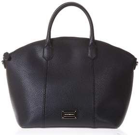 Emporio Armani Black Large Eco Leather Bag With Removable Shoulder Straps