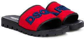 DSQUARED2 logo strap sandals