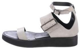 Helmut Lang Flatform Ankle Strap Sandals
