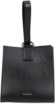 Jil Sander Black Leather Clutch Bag