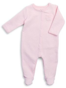Absorba Baby Girl's Quilted Footie