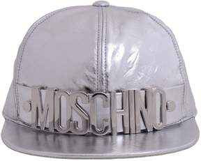 Moschino Leather Baseball Cap