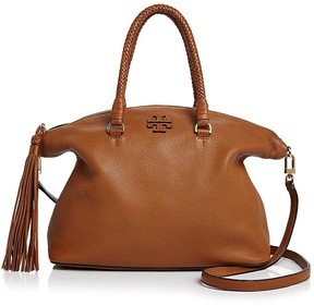 Tory Burch Taylor Leather Satchel - SADDLE/GOLD - STYLE