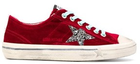 Golden Goose Deluxe Brand Women's Red Leather Sneakers.