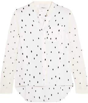 3.1 Phillip Lim Snowbird Printed Silk Crepe De Chine Shirt - Off-white