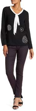 Desigual Sheila Woven Colorblock Print Pants