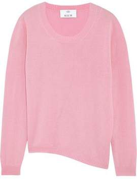 Allude Asymmetric Wool And Cashmere-Blend Sweater