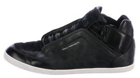 Y-3 Leather Low-Top Sneakers