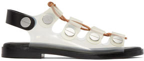 Alexander Wang Clear Lace-Up Patricia Sandals