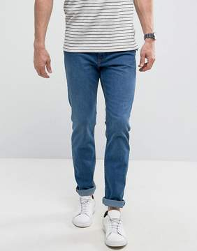 MANGO Man Slim Jeans In Mid Wash Blue