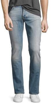 Nudie Jeans Grim Tim Slim-Straight Jeans, Light Blue