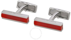 Montblanc Deco Steel Cuff Links with Camelian Inlay