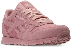 Reebok Big Girls' Classic Leather Satin Casual Sneakers from Finish Line