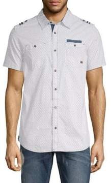 Buffalo David Bitton Serhat Printed Cotton Button-Down Shirt