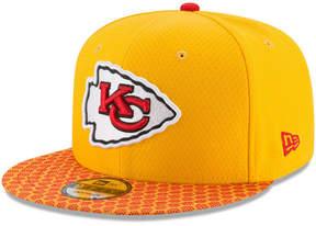 New Era Boys' Kansas City Chiefs 2017 Official Sideline 9FIFTY Snapback Cap