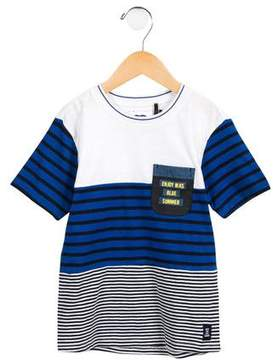 Ikks Boys' Striped Short Sleeve Shirt w/ Tags