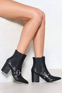 Nasty Gal Sit Down and Buckle Up Chelsea Boot