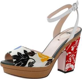 FENDI Floral Print Sandal