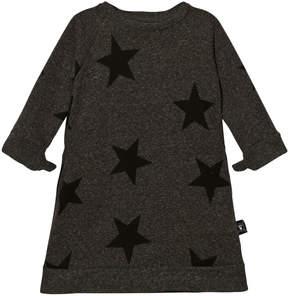 Nununu Charcoal Star A-Line Dress