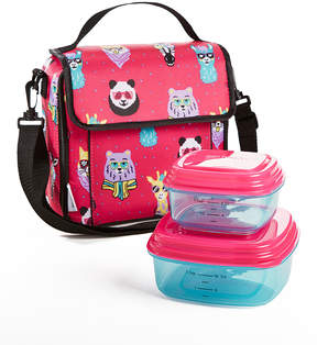 Fit & Fresh Pink Hipster Animal Marlowe Lunch Set