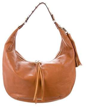 Rebecca Minkoff Studded Leather Hobo - BROWN - STYLE