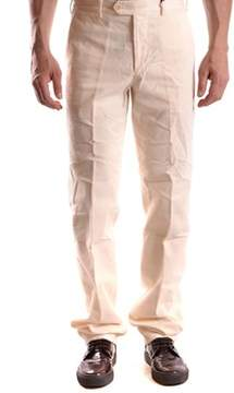 Aspesi Men's White Cotton Pants.
