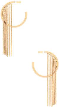 Ettika Hoop Chain Earrings