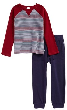 Splendid Boy's Stripe Thermal T-Shirt & Sweatpants Set