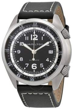 Hamilton Khaki Pilot Pioneer Automatic Leather Men's Watch, H76455933