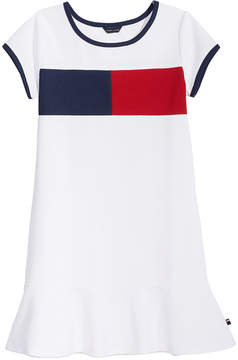 Tommy Hilfiger Colorblocked Pique Dress, Little Girls