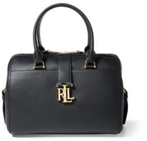 Ralph Lauren Pebble Leather Braelyn Satchel Black One Size