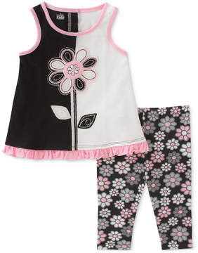 Kids Headquarters 2-Pc. Tunic & Floral-Print Capri Leggings Set, Little Girls