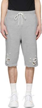 Miharayasuhiro Grey Damaged Shorts