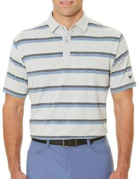 Callaway Short Sleeve Opti-Soft Golf Performance Heather Printed Stripe Polo Shirt