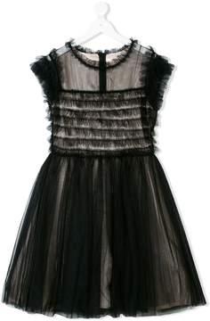 Elisabetta Franchi La Mia Bambina TEEN tulle overlay dress