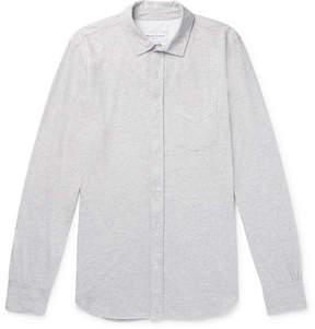 Officine Generale Lipp Mélange Cotton And Silk-Blend Jersey Shirt