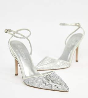 Asos DESIGN Pharaoh bridal embellished high heels