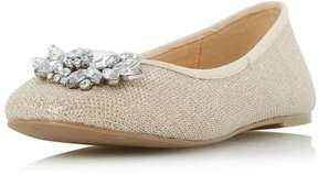 Head Over Heels *Head Over Heels by Dune Gold 'Hiya' Flat Shoes