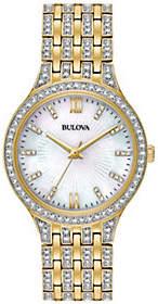 Bulova Women's Goldtone Crystal Bracelet Watch