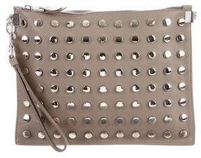 Versace Studded Leather Wristlet