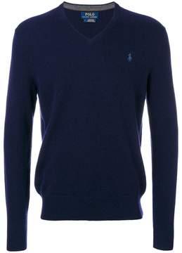 Polo Ralph Lauren logo embroidery V-neck jumper
