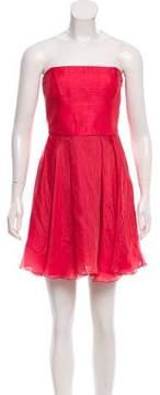 Emporio Armani Linen-Blend A-Line Dress