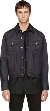 Ami Alexandre Mattiussi Indigo and Black Denim Jacket