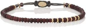 M. Cohen Men's Garnet & Yellow Gold Beaded Bracelet