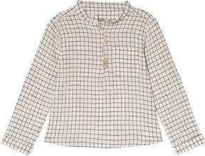 Emile et Ida White Check Carreaux Shirt