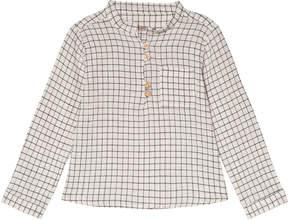 Emile et Ida White Check Carreaux Shirt