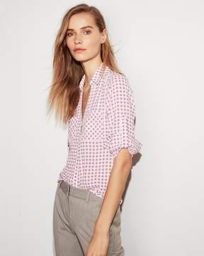 Express Slim Fit Gingham Portofino Shirt