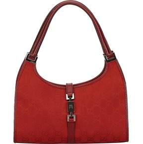 Gucci Jackie cloth handbag - BURGUNDY - STYLE