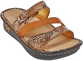 Alegria Leather Slide Triple Strap Sandals - Colette